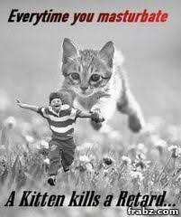 Retard Meme Generator - everytime you masturbate a kitten kills a retard meme generator