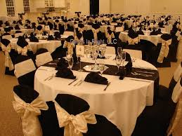 black and white chair covers black and chagne wedding white poly with pink sparkling