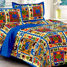 Bedsheets Uniqchoice Set Of 3 Rajasthani King Size Cotton Bedsheets With 6