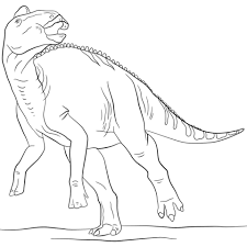 hadrosaurus coloring pages free coloring pages