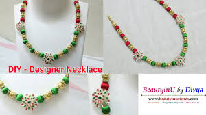 necklace designs making images Diy easy and simple designer necklace making silk thread jpg