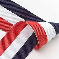 navy blue and white striped ribbon 38mm 1 5 wide baby blue white woven stripe sided ribbon