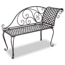 chaise m tallique chaise longue en métal brun à motif de volute achat vente chaise