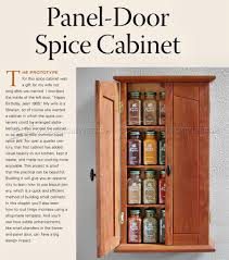 Narrow Spice Cabinet Spice Cabinet Plans U2022 Woodarchivist