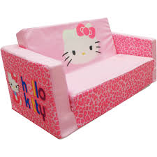 Kids Fold Out Sofa by Hello Kitty Bows Small Flip Sofa Walmart Com