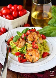 Light Summer Dinners Garlicky Tomato Basil Shrimp With Zoodles Iowa Eats