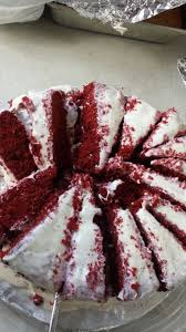 double layer red velvet cake duncan hines iced with betty