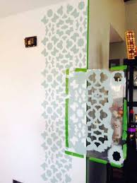 kitchen stencils designs easily dress up a blank wall stencil stories stencil stories
