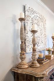 photos hgtv fixer upper tall candle sticks decorate living room