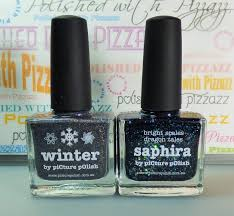 polished with pizzazz picture polish winter and saphira