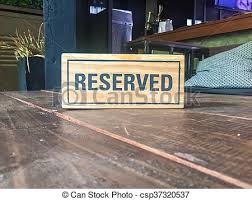 metal reserved table signs signs reservation on the table signs reservation on the stock