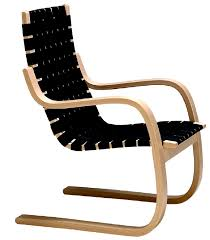 Aalto Armchair Contemporary Chair Sled Base Leather By Alvar Aalto 406