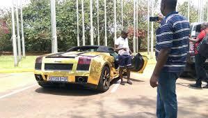 Photos Katsha U0027s Golden Lamborghini Spotted In Bugolobi