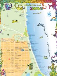 tulum map tulum tourist map tulum mexico mappery