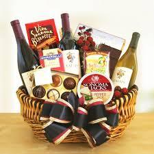 Gourmet Food Gift Baskets Golden Gate Greetings Wine And Gourmet Food Gift Basket