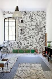living room mural 48 eye catching wall murals to buy or diy hand drawn flowers