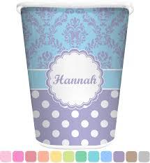 purple damask u0026 dots waste basket personalized potty training