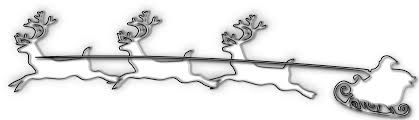 santa and reindeer clipart black and white free clip art images