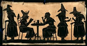 file witches five silhouetted figures wellcome v0048920 jpg