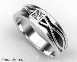 mens princess cut diamonds wedding ring vidar jewelry unique mens wedding band princess cut wedding ring for