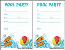 party invitation cards free printable pool party invitations