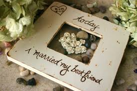 wedding gift for best friend custom wedding gift rustic chic wedding today i married my best
