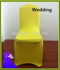 Cheap Chair Covers For Sale Aliexpress Com Buy Yellow Cheap Spandex Chair Cover Wedding For