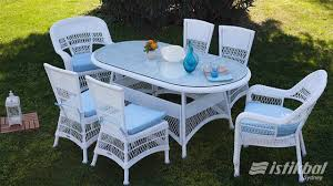 6 seater outdoor dining table aqua oval outdoor dining set white istikbal furniture welcome home