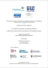 chambre internationale de commerce arbitrage actualité 1er colloque franco dominicain sur l arbitrage