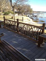 deck railing for texas lake house tub built in benches and boat