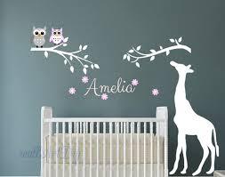 Giraffe Wall Decals For Nursery Nursery Wall Decals Tree Wall Stencils Giraffe Wall Sticker