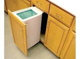trash cans for kitchen cabinets miraculous kitchen trash can cabinet pull out lowes garbage
