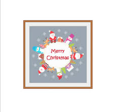 merry christmas modern merry christmas cross stitch modern christmas christmas pattern