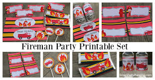 firefighter cupcake toppers hot fireman printables