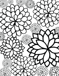coloring pictures of flowers to print free print coloring pages free printable bursting blossoms flower