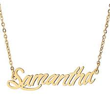 Gold Name Plated Necklace Gold Name Plate Necklace Amazon Com