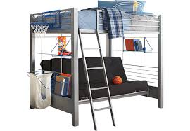 Loft Bunk Beds Build A Bunk Gray 4 Pc Futon Loft Bed Bunk Loft Beds Metal