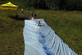 Backyard Slip N Slide Keen Vail Kids Adventure Race 2013