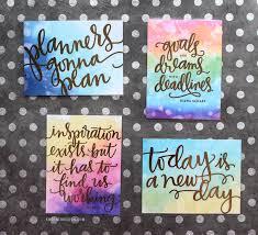 diy foil cards for planners free kwernerdesign