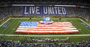 detroit lions thanksgiving day card stunt stadium card stunts by