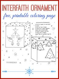 free coloring page interfaith christmas ornament