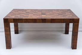 parsons wood dining table milo baughman patchwork burlwood parsons dining table thayer coggin