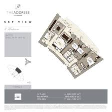 floor plans by address skyview floorplans address residence downtown dubai