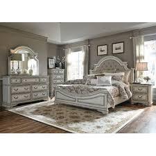 white bedroom set king antique white traditional 6 piece king bedroom set magnolia manor
