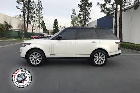 white land rover black rims satin pearl white range rover wrap wrap bullys