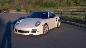 dark purple porsche wrapped my porsche 997 2 turbo s in satin pearl white cars