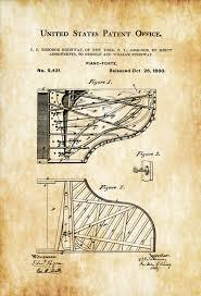 steinway 1880 piano forte patent piano patent grand piano