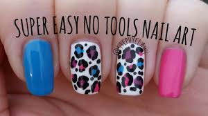 super easy no tools nail art step by step bright leopard print