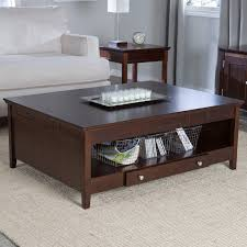 Coffee Tables With Drawers by Furniture Espresso Coffee Table With Drawers And Shelf For Home