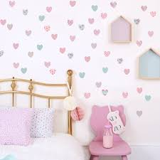 fabric wall stickers and decals for baby nursery and children s rooms heart wall stickers